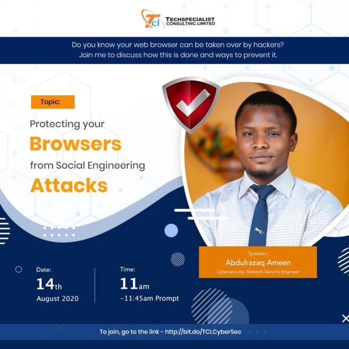 Protect your web browsers from social engineering attacks, Abdulrazaq Ameen Techspecialist